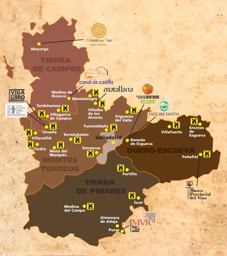 Mapa castillos valladolid