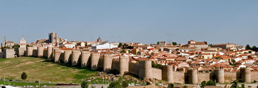 Panorámica de la muralla de Ávila, Patrimonio de la Humanidad