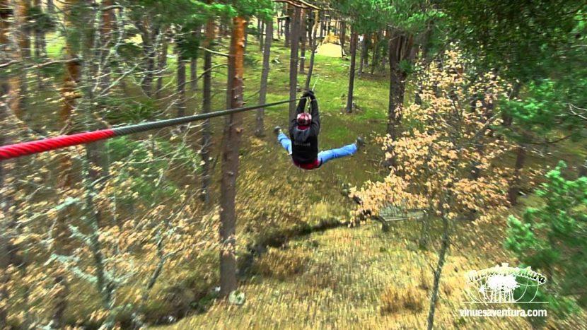 vinuesaventura parque acrobático forestal
